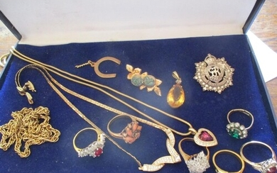 This lot has been withdrawn A quantity of costume jewellery...