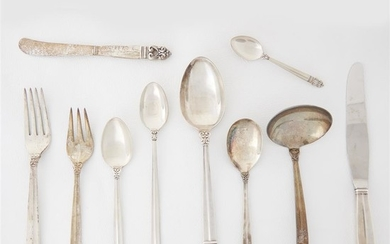 A sterling silver flatware service for six International Sterling,...
