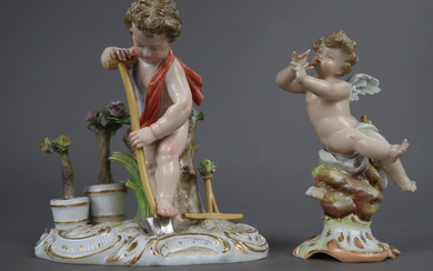 "ALLEGORY ""The Earth"" - MEISSEN, porcelain figure."