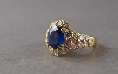 ARFAN, flower ring in 750°/°° gold set with...