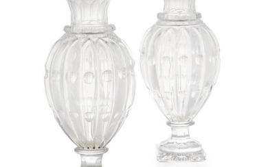 ATTRIBUTED TO BACCARAT, A PAIR OF LATE 19TH/EARLY 20TH CENTU...