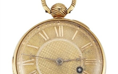 An early 19th century 18ct gold fob...