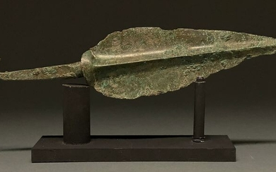 Ancient Greek Archaic Period Cypriot Bronze Spear