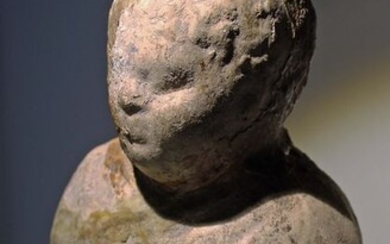 Ancient Roman Terracotta Bust of a Young Boy