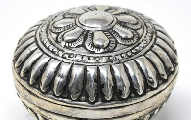 Antique Hand Hammered Repousse Sterling Box