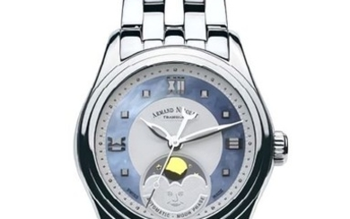 Armand Nicolet - M03-2 Damenuhr Mondphase Automatik - A153AAA-AK-MA150 - from official retailer - Women - 2011-present