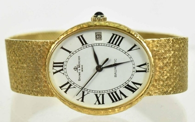 Baume & Mercier 18K Gold Bracelet Automatic Watch