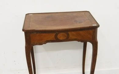 Bedside table in 18th century marquetry with pull...
