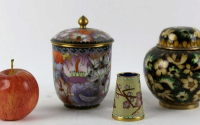 CHINESE FINE CLOISONNE GROUPING