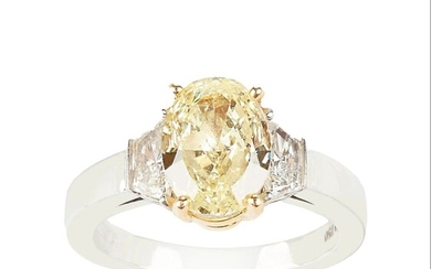 Cartier Natural Fancy Yellow Diamond Ring