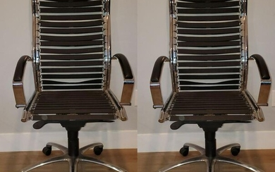 Charles and Ray Aims Chairs with Bungee Attachments