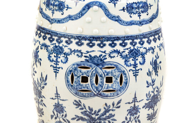 Chinese Export Blue/White Garden Seat