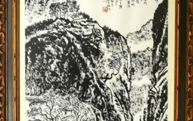Chinese Sumi Watercolor Painting Poem & Landscape