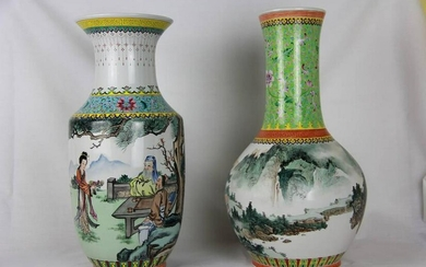 "Chinese/Taiwan"" porcelain vases"