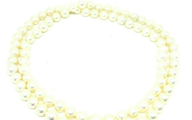 Cultured Pearl Bead Necklace