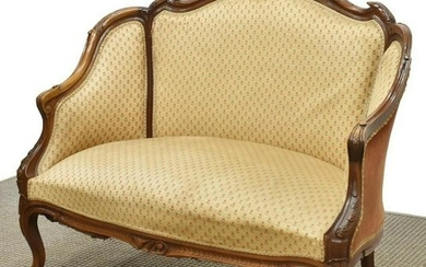 FRENCH LOUIS XV STYLE UPHOLSTERED CANAPE SOFA