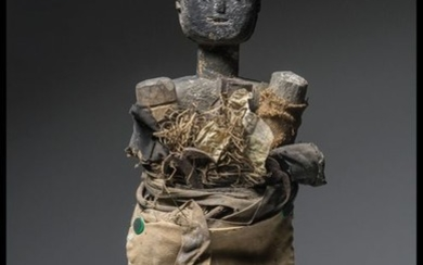 Fetish (1) - Wood, fabric, metal ... - Ashanti - Ghana