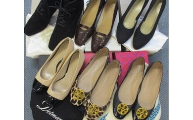 Five pairs of ladies shoes to include two pairs of Tory Burc...