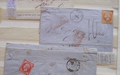 France - Three important maritime cancellations on classic pieces - Pothion-Yvert-Maury