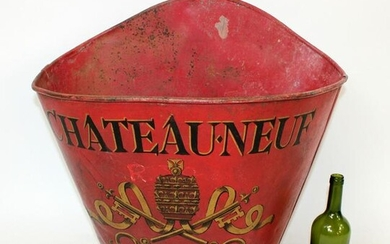 French metal grape hotte Chateauneuf de Pape