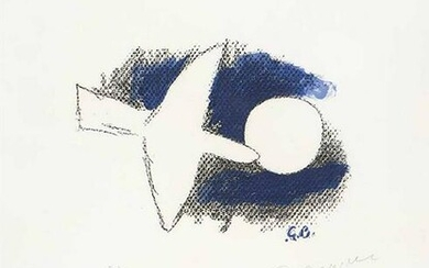 GEORGES BRAQUE - Star and bird, 1959
