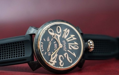"""GaGà Milano - Mechanical Watch Carbon 48MM Gold LIMITED EDITION Swiss Made - 6061 'NO RESERVE PRICE"""" - Unisex - BRAND NEW"""