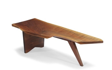 """George Nakashima (American, 1905-1990) A Special Design """"Slab-Type"""" Coffee..."""