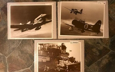 Group of WWII Aircraft, Planes, Sepia Tone Photo Prints