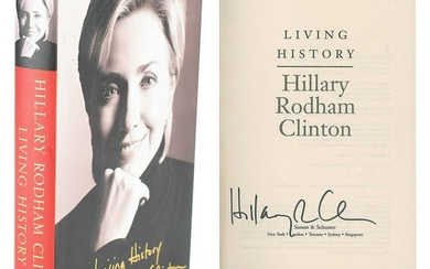 Hillary Clinton Signed Book