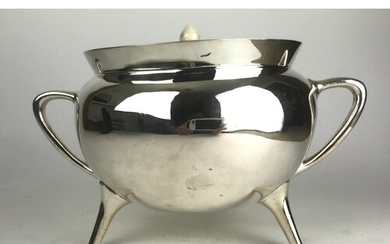 IN THE MANNER OF CHRISTOPHER DRESSER, A STYLISH HEAVY SILVER...