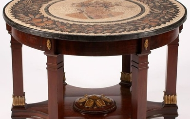Italian Neoclassical Style Parcel Gilt Mosaic Top