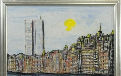 Jabolo, Oil/c New York City Skyline with Twin Towers