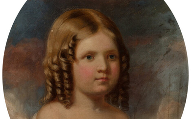 John George Brown (1831-1913), Portrait of a Young Girl (1859)