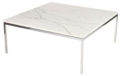 """Knoll Mid- Century Marble Top Table, 42"""""""