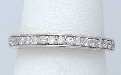 LADIES 14k WHITE GOLD 1/4ct ROUND GENUINE 19 DIAMOND