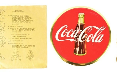 LOT OF 2: COCA-COLA SIGN IN ORIGINAL ENVELOPE AND A