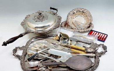 LOT OF MISC SILVER PLATE