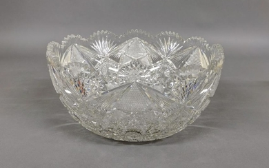 Large American Brilliant Period Punch Bowl