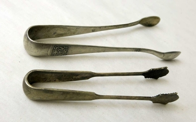 Lot of 2 Antique Silver Pairs of Pincers