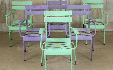 Lot of 6 Painted Chairs