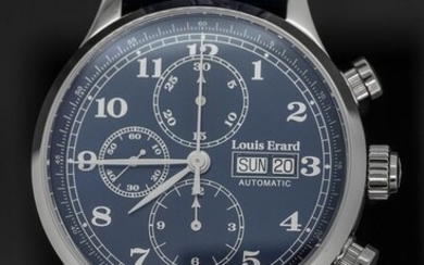 Louis Erard - Automatic Chronograph 1931 Collection Blue leather strap Swiss Made - 78225AA25.BDC37 - Men - BRAND NEW