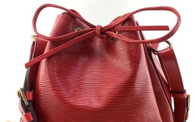 Louis Vuitton - GOOD-Epi Noe Red Leather Shoulder bag