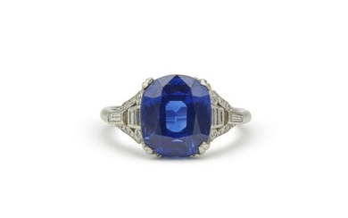 MARCUS & CO. Platinum, Kashmir Sapphire, and Diamond