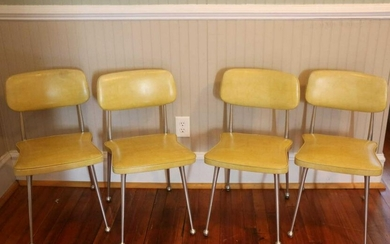 MID-CENTURY MODERN SIDE CHAIRS SET OF FOUR