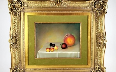 Magnificent Still Life Fruit Oil on Canvas by Teimur