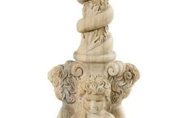 Neoclassical-Style Carved Marble Pedestal