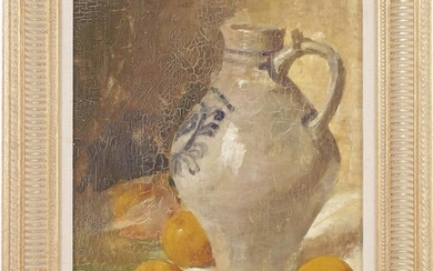 (-), Unclearly signed, Still life with Cologne jug...
