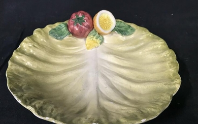 Painted Porcelain Cabbage Plate