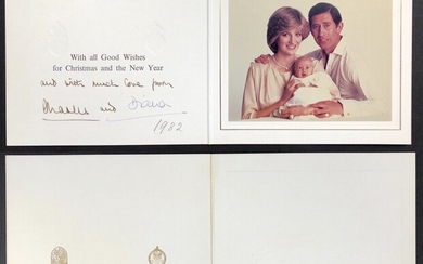 Photograph Characters 1982 a color photo of Princess Diana with Prince Charles and his eldest...