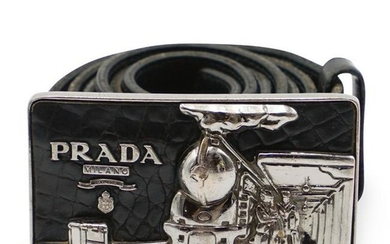 Prada Buckle Leather Belt